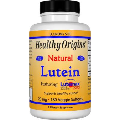Healthy Origins Lutein (Lutemax) 20 mg + 4 mg zeaxanthin, 180 veg.softgel kapslí