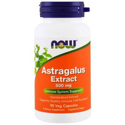 Now Foods Astragalus Extrakt 500 mg, 90 kapslí