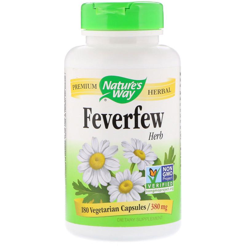 Nature's Way Kopretina Řimbaba (Feverfew) 380 mg, 180 veg.kapslí