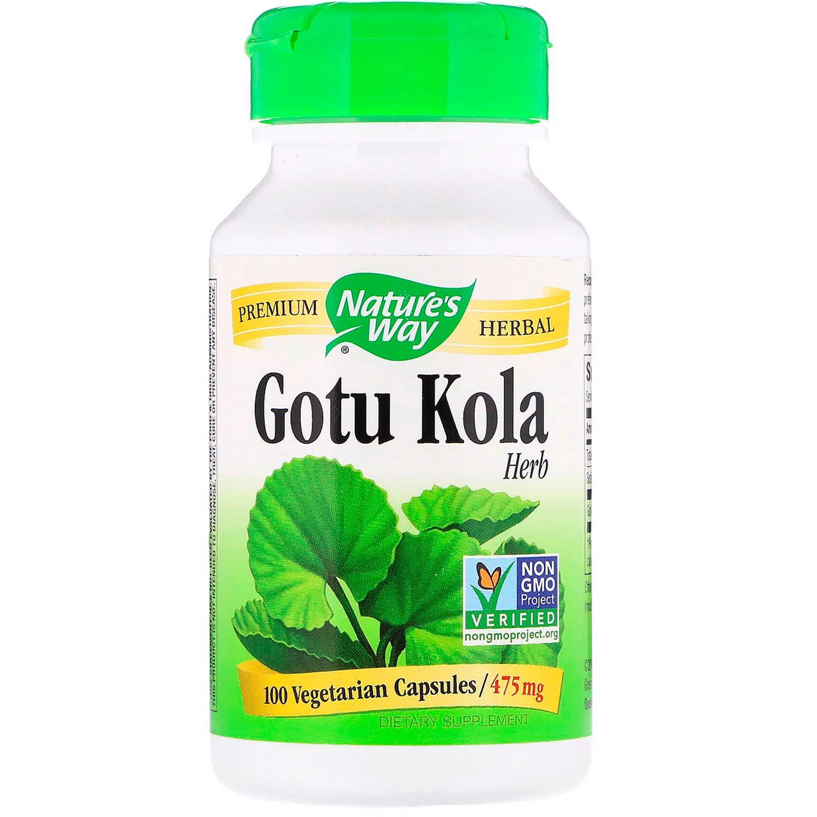 Now Foods Gotu Kola 475 mg, 100 rostlinných kapslí