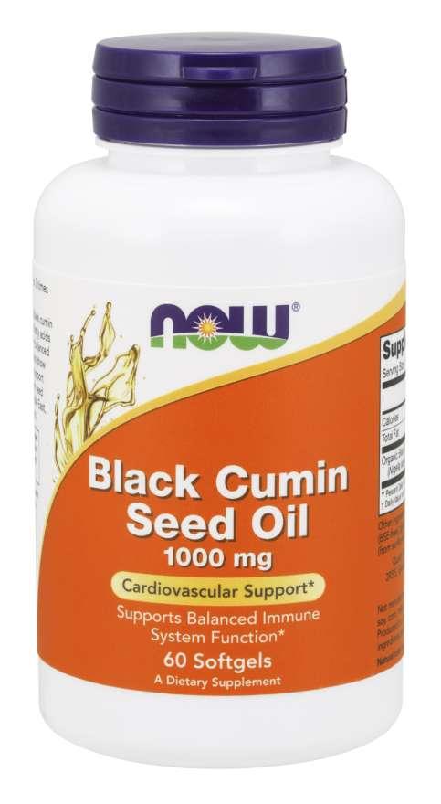 Now Foods Black Cumin Seed Oil (černucha setá) 1000 mg, 60 softgel kapslí