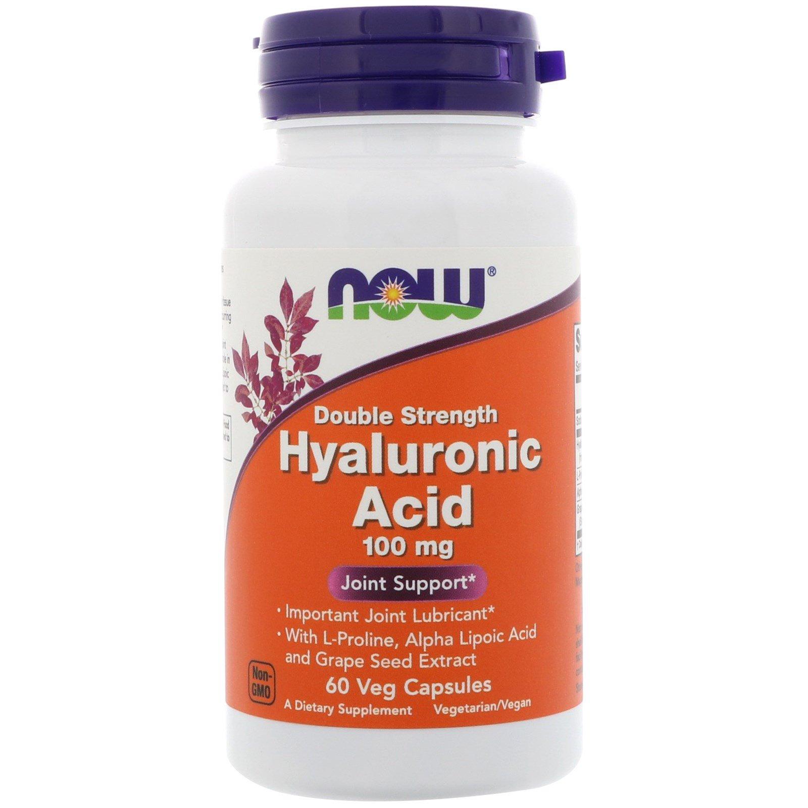 Now Foods Kyselina Hyaluronová Plus, 60 rostlinných kapslí