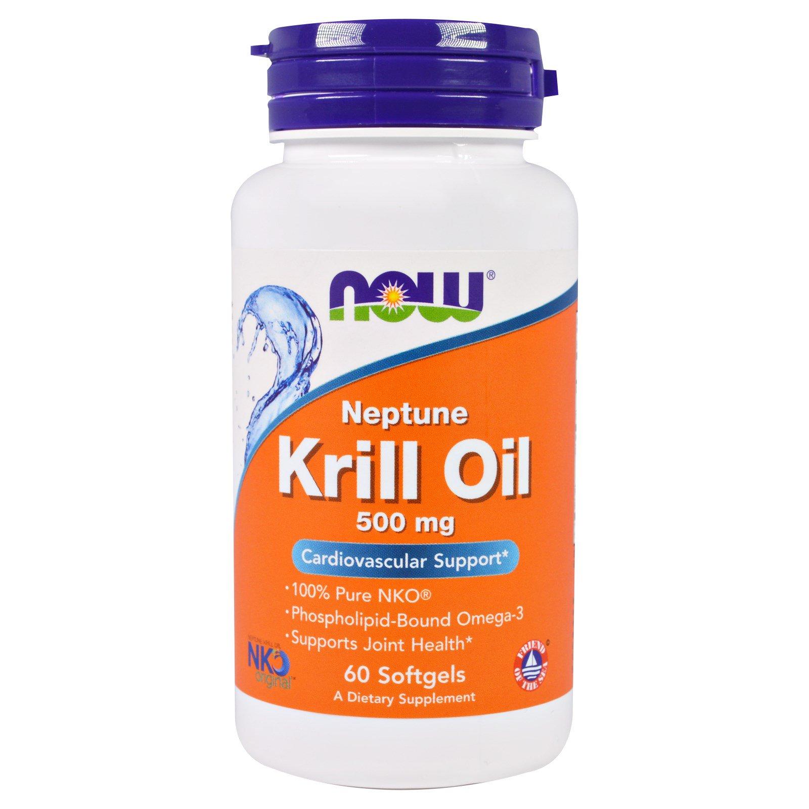 Now Foods Krill Oil Neptune 500 mg, 60 softgel kapslí