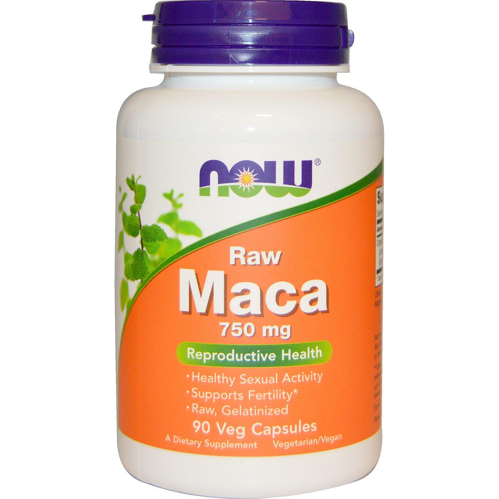 Now Foods Maca, 750 mg, 90 veg.kapslí