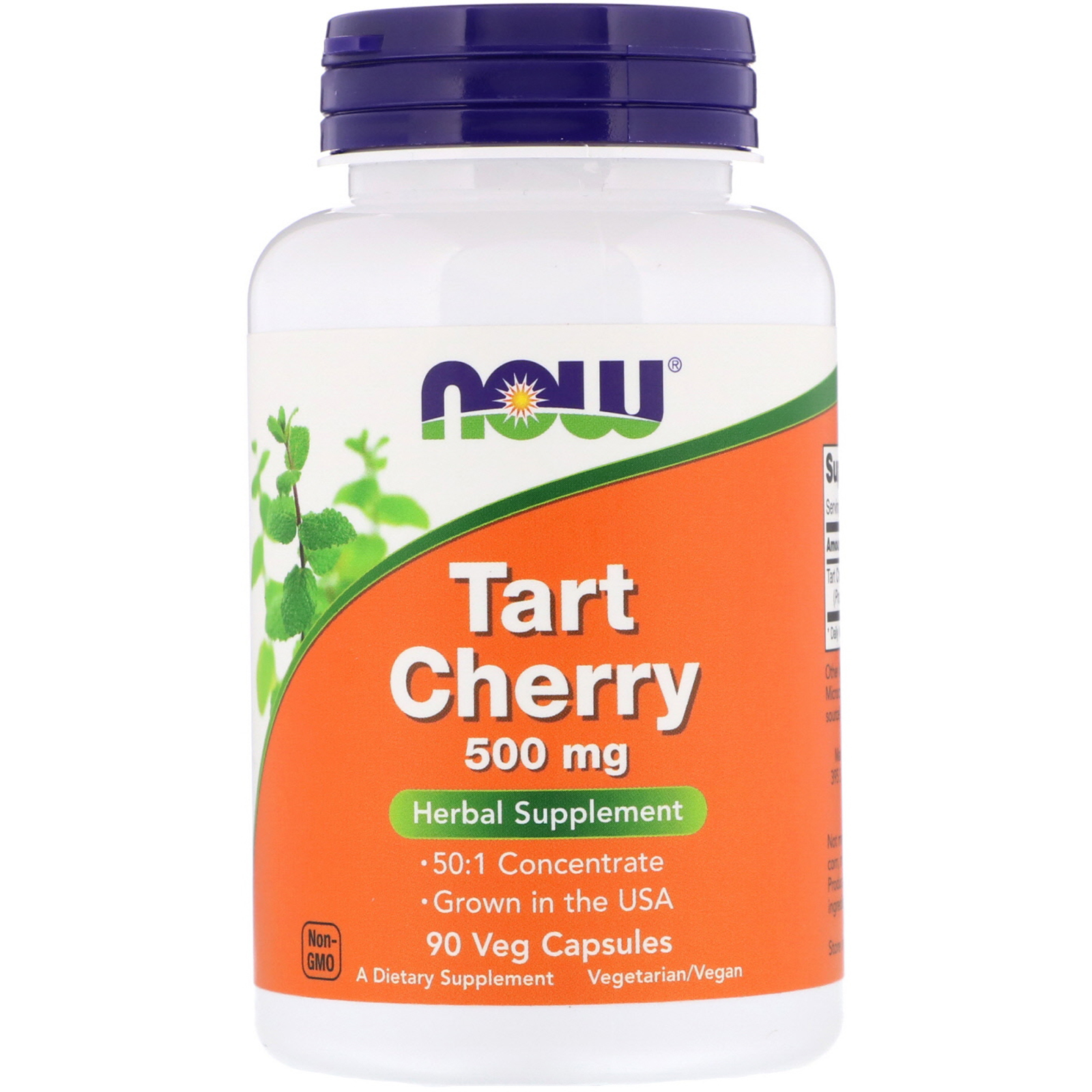 Now Foods Tart Cherry, 500 mg, 90 rostlinných kapslí
